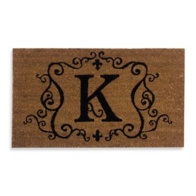 "Monogram Doormat Insert in Letter ""K"""