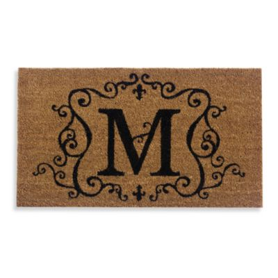 "Monogram Doormat Insert in Letter ""M"""