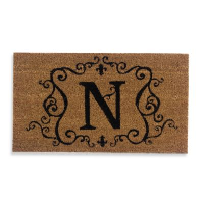 "Monogram Doormat Insert in Letter ""N"""