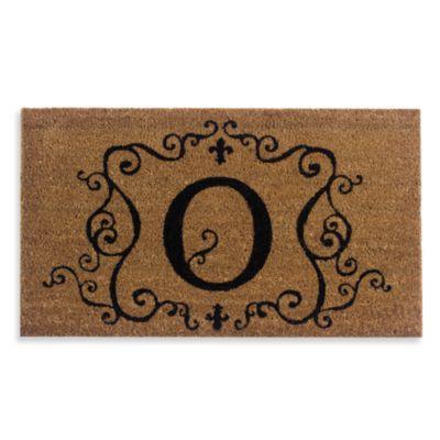 """Monogram Letter """"O"""" Door Mat Insert"""