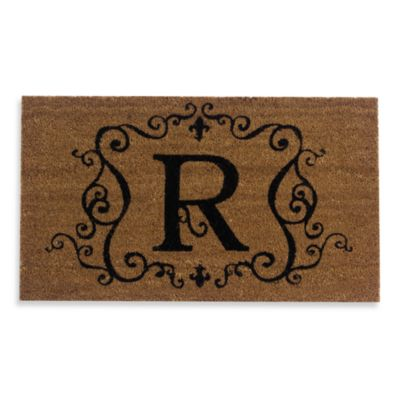 "Monogram Doormat Insert in Letter ""R"""