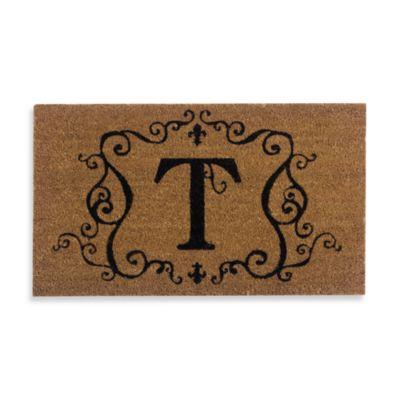 """Monogram Letter """"T"""" Door Mat Insert"""