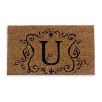 """Monogram Letter """"U"""" Door Mat Insert"""