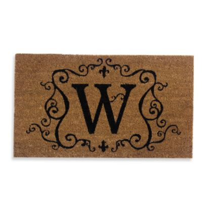 "Monogram Doormat Insert in Letter ""W"""