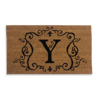 "Monogram Doormat Insert in Letter ""Y"""