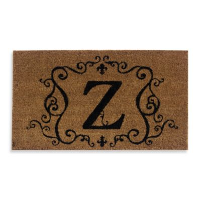 "Monogram Doormat Insert in Letter ""Z"""
