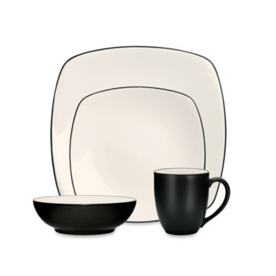 Noritake® Colorwave Graphite Square 4-Piece Place Setting