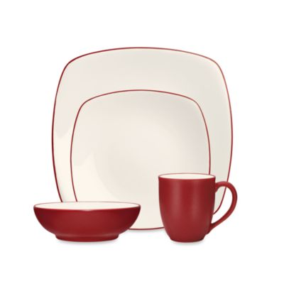 Noritake® Colorwave Raspberry Square 4-Piece Place Setting