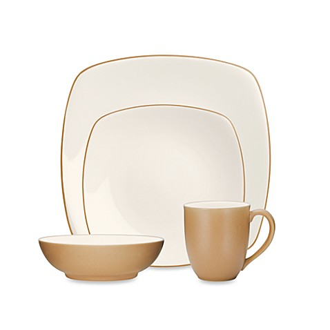 Noritake® Colorwave Square 4-Piece Place Setting in Suede