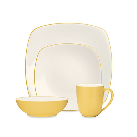 Noritake® Colorwave 4-Piece Square Place Setting in Mustard