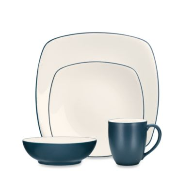 Noritake® Colorwave Blue Square 4-Piece Place Setting