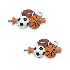 White Decorative Window Hardware with Sports Finials
