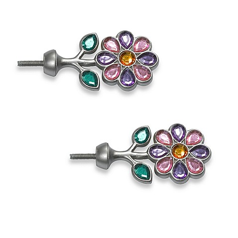 Flower Finials (Set of 2)