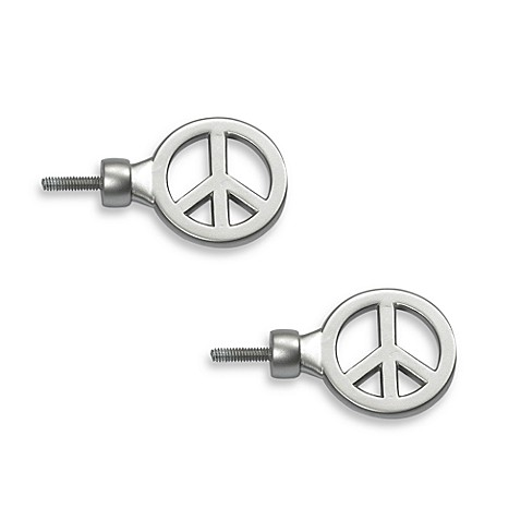 Peace Finials (Set of 2)