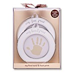 Carter's® Hand and Foot Print Keepsake in Silver