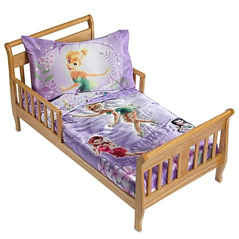 disney fairies garden treasures 4 piece toddler bedding set bed bath