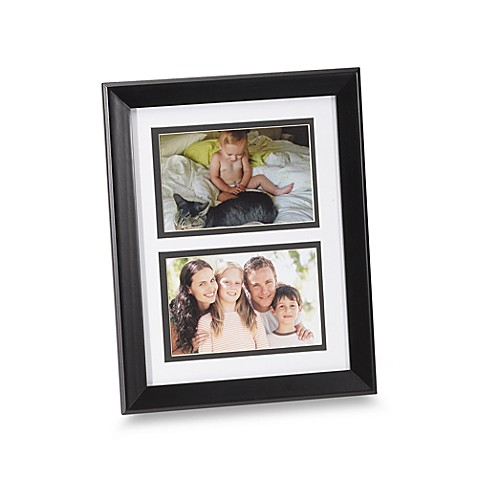 Hudson Two Opening 4-Inch x 6-Inch Photo Frame in Black