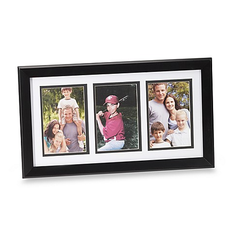 Hudson Three Opening 4-Inch x 6-Inch Photo Frame in Black
