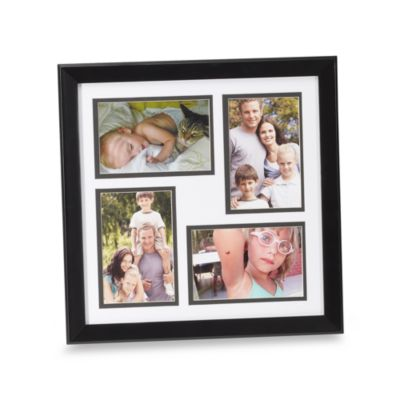 Hudson Black Four Opening 4-Inch x 6-Inch Photo Frame