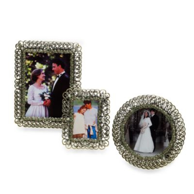Two's Company Ivy League 3-Inch Round Photo Frame