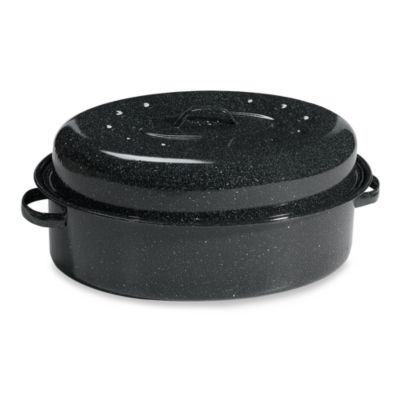 Graniteware 19-Inch Oval Covered Roaster