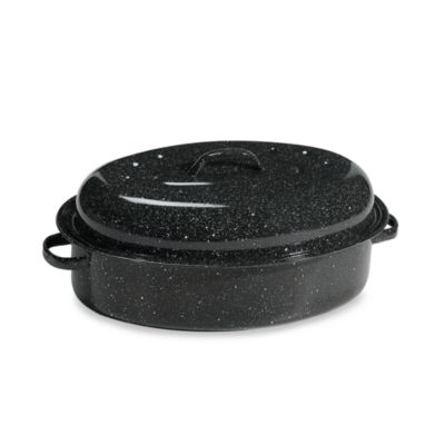 Graniteware 15-Inch Oval Covered Roaster