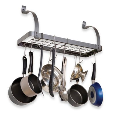 "Rack It Up ""Bookshelf"" Pot Rack"