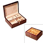 Two-Tone Inlaid Wood Jewelry Box