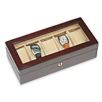 Glass Top Rosewood Watch Box