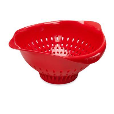 Preserve® Large Colander in Ripe Tomato
