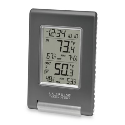 La Crosse® Technology Wireless Temperature Station with Atomic Time