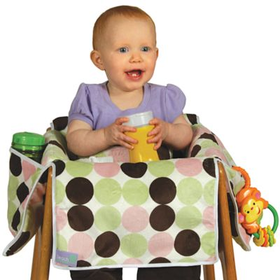 Free Shipping Store > Leachco® Diner Liner® Plush Booster Chair Liner in Girl Dot