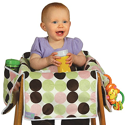 Leachco® Diner Liner® Plush Booster Chair Liner in Girl Dot