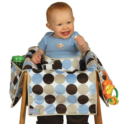 Free Shipping Store > Leachco® Diner Liner® Plush Booster Chair Liner in Boy Dot