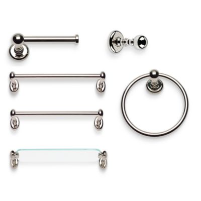 Emma Polished Nickel 18-Inch Towel Bar