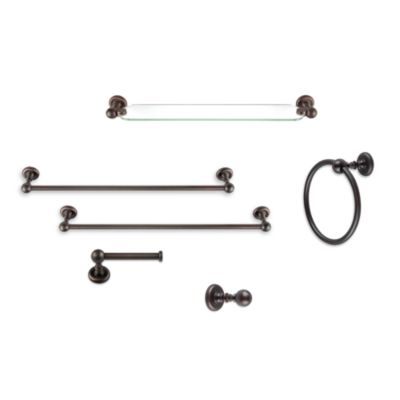 Emma Venetian Bronze 24-Inch Towel Bar
