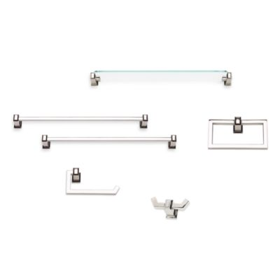 Sutton Place Polished Nickel 24-Inch Glass Shelf
