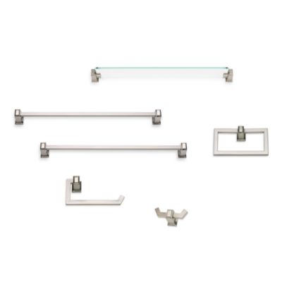 Sutton Place Brushed Nickel 24-Inch Glass Shelf