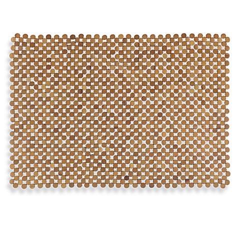 Mosaic Bamboo Mahogany Tub Mat Www Bedbathandbeyond Com