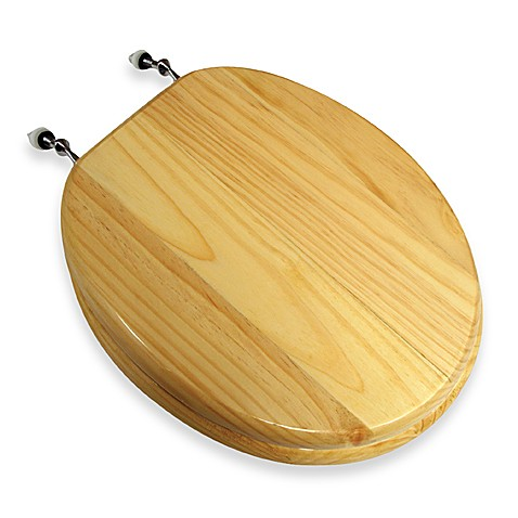Wooden Pine Round Toilet Seat Bed Bath Beyond