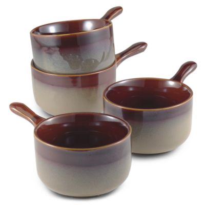 Nova Brown 4 7/8-Inch Onion Soup Bowls (Set of 4)