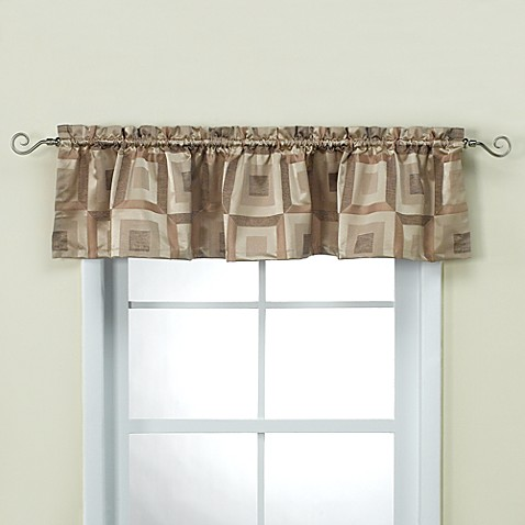 Metro Bronze Bathroom Window Valance