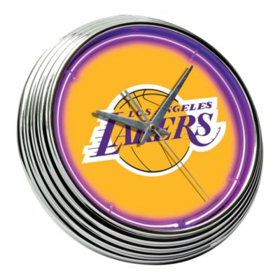 Neon LA Lakers 15-Inch Wall Clock
