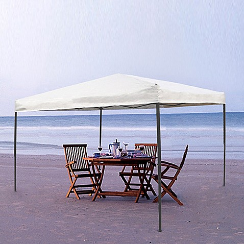 Pebble 10-Foot x 10-Foot One-Piece Gazebo with Charcoal Frame