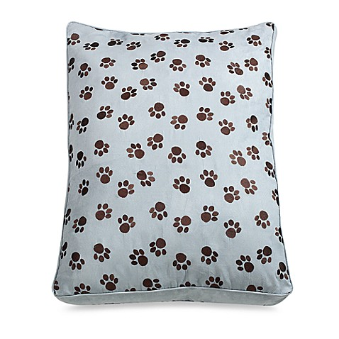Paw Print Embroidered Pet Bed