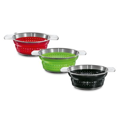 "Rosle 10"" Collapsible Colander - Black"