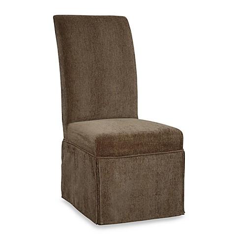 Parsons Chair Slip Over Skirted Slip Cover In Olive Green