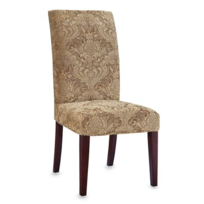 Parsons Chair Green Paisley Tapestry Slip Over Slip Cover