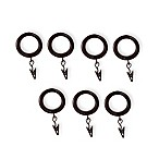 Cambria® Casuals Clip Rings in Dark Brown Wood and Gun Metal (Set of 7)