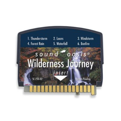 Sound Oasis Sleep Sound Therapy System S550 Wildness Journey Sound Card